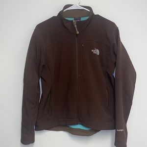 The north face brown sped hard shell jacket